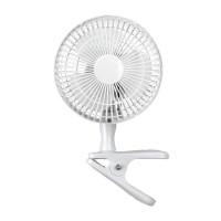 White 6 Inch Clip On Fan Portable Cooling Desk Shelf Fan