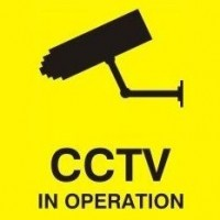 100mm X 100mm Security Camera CCTV Warning Caution Sticker Sign