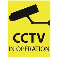 100mm X 75mm Security Camera CCTV Warning Caution Sticker