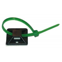 19mm Self Adhesive Cable Tie Mounts - Pack of 100