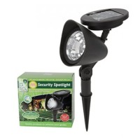 3 LED Solar Powered Wireless Garden Pathway Security Spot Light