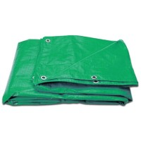 10Ft x 8Ft Heavy Duty Green Weatherproof Tarpaulin