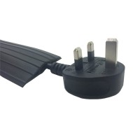 Black Rubber 80x14 Cable Tidy Floor Cover Protector Trunking