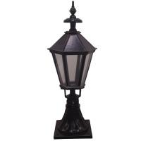 Black Traditional Driveway Pillar Lamp