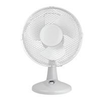 Portable 9-Inch Oscillating White Desk Fan