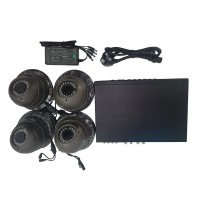 4 Channel Digiview All In One CCTV Security System & 4 Dome Cameras