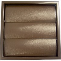 100mm Brown Gravity Flap Terminal Vent