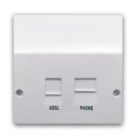 ADSL Filtered BT / RJ11 Phone / Network Faceplate