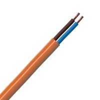 0.75mm 2 Core Hi-Vis Flex Cable Orange Round 3182Y