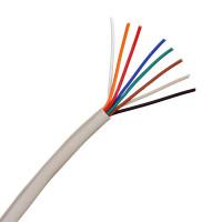 4 Pair 8 Core Round White Burglar Alarm Cable