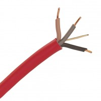 Red 1.5mm 16A Brown Black Grey Three Core & Earth 6243Y Flat PVC/PVC Harmonised Lighting Power Cable