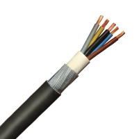 4mm 5 Core 42A Brown Black Grey Blue Green Yellow 6945X Steel Wire Armoured SWA Outdoor Mains Power Cable