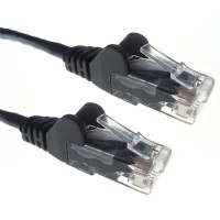 Black RJ45 Cat5e High Quality 24AWG Stranded Snagless UTP Ethernet Network LAN Patch Cable