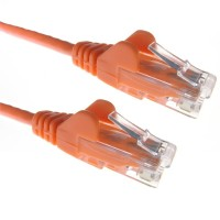 Orange RJ45 Cat5e High Quality 24AWG Stranded Snagless UTP Ethernet Network LAN Patch Cable